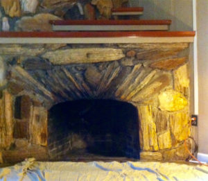 Old Fireplace Before Gas Insert
