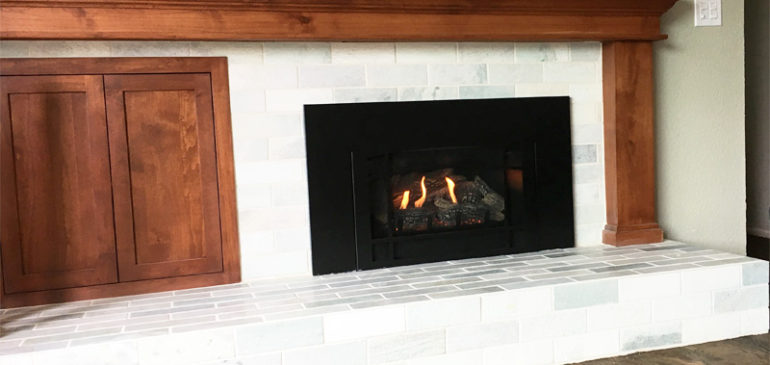 Wood Burning Fireplace to Gas Insert Conversion