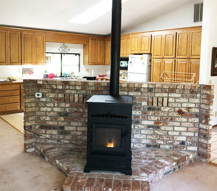 Home Projects Heatilator Freestanding Pellet Stove
