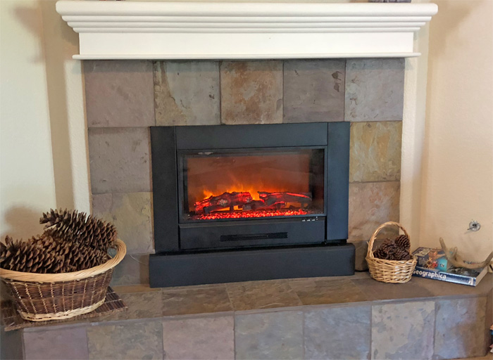 Home Projects Modern Flame Zcr Series Electric Fireplace Insert