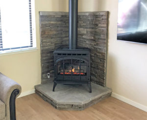 Home Projects Quadra Fire Topaz Gas Stove Auburn Home