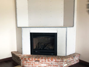Heat and Glo Slimline 7X Before Hearth Remodel