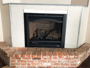Heat and Glo Slimline 7X Before Hearth Remodel Closeup