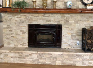 Finished Fireplace Conversion