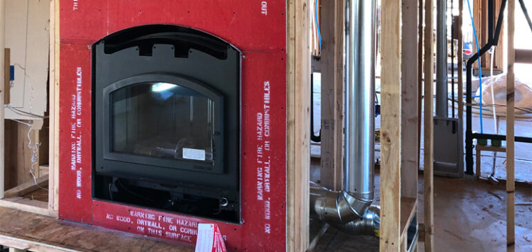 New Construction Wood Stove Installation